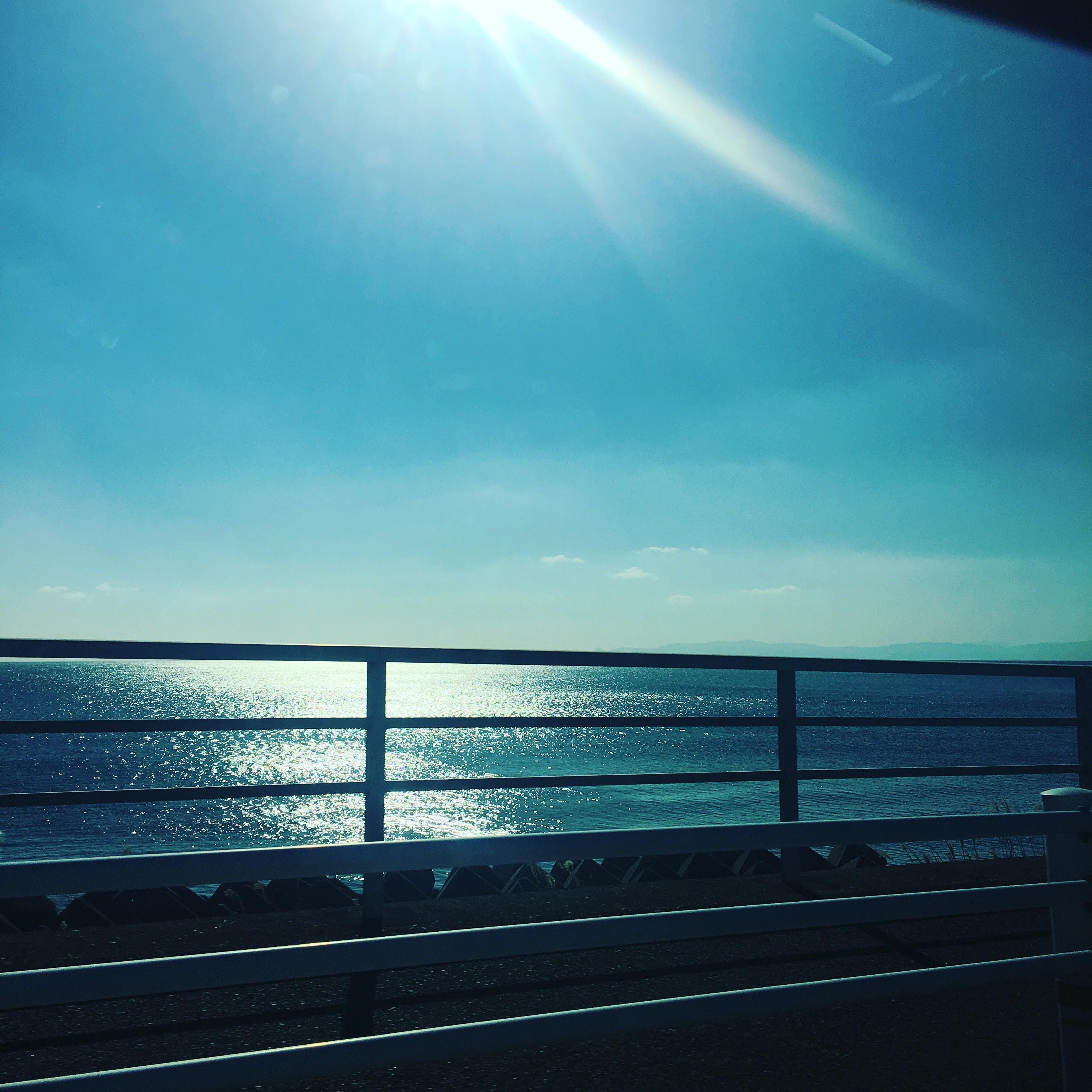 別府湾沿い