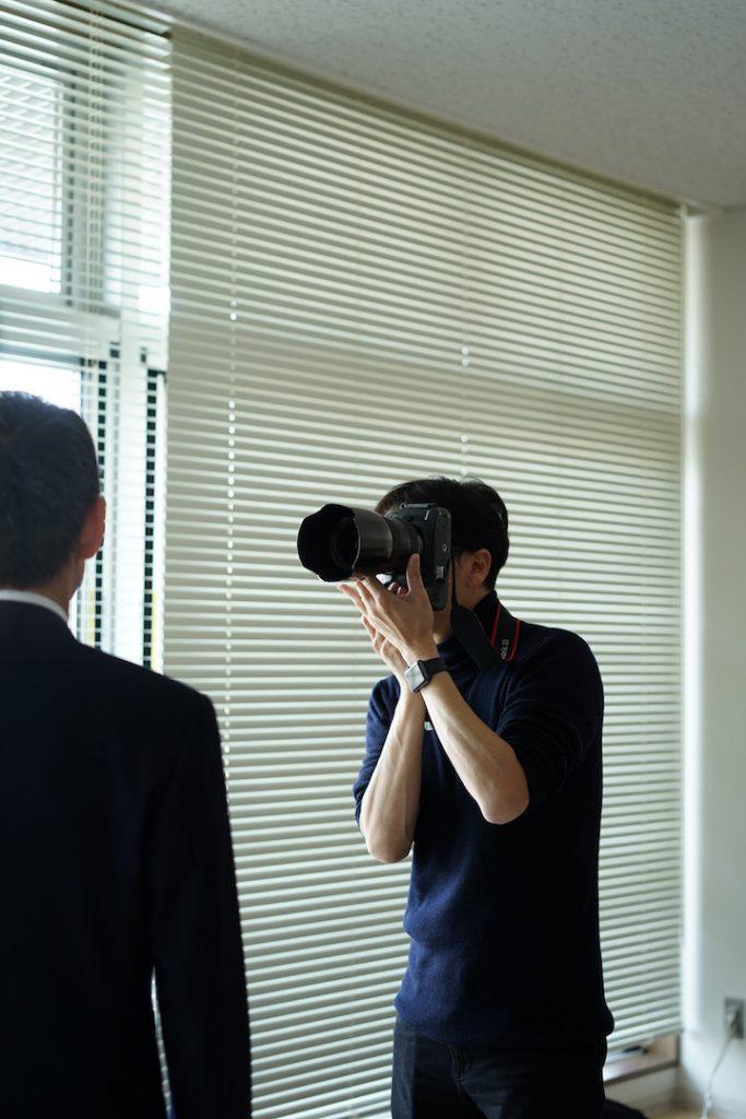 プロカメラマン稲垣撮影中