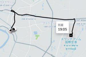 uber地図画面