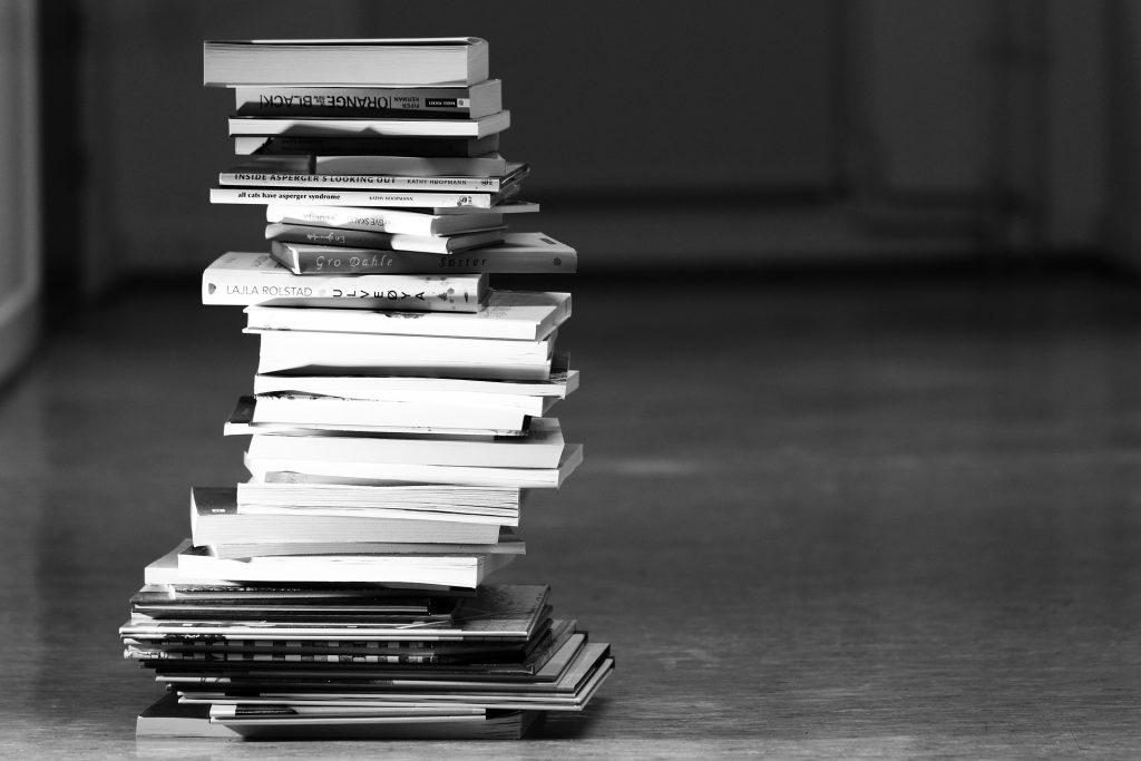 積み重なった本たち